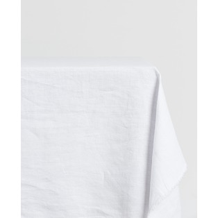 Day and Age Linen Tablecloth White