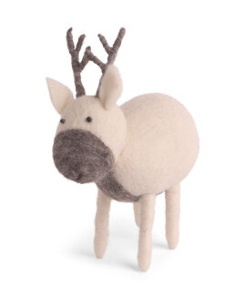 Day and Age Reindeer White 15x15cm