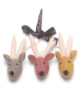 Day and Age Mini Reindeer Faces 3cm (set3)