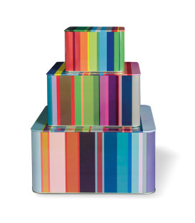 Day and Age Stripes Tin Boxes (set of 3)