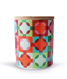 Day and Age Amelie Porcelain Cannister with Bamboo Lid